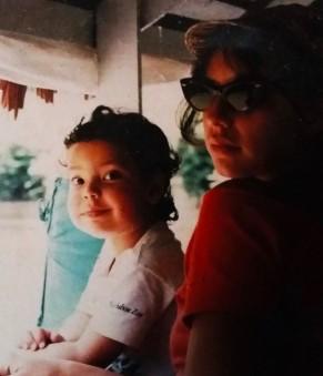madre e hijo, Andres Zighelboim Ballon y Sara Ballon Alvarez. Sara Sara peru 1991